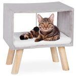 Cama para gato de madera taburete