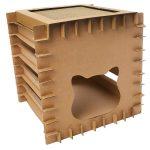 Casa de cartón para gatos 51 cm de alto