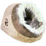 Iglú para gatos de peluche